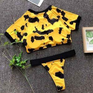 Leopard Yellow 2 Pc Bikini